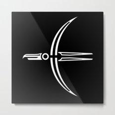 Moon Raven Metal Print