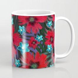 Carnations & Columbine Flowers Coffee Mug