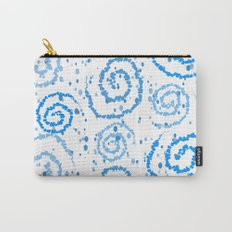 Abstract Blue Squigglisciousness Carry-All Pouch