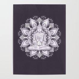 Black Mandala Poster