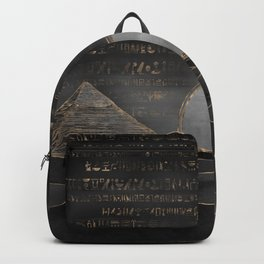 Egyptian Pyramids Abstract Watercolor and Gold Backpack