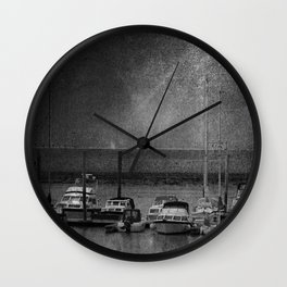 Harbour of Neuharlingersiel lower saxony Germany Wall Clock