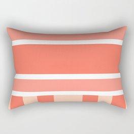 Porch Soft Coral Sky View Rectangular Pillow