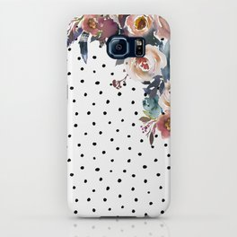 Boho Flowers and Polka Dots iPhone Case