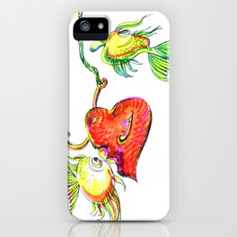 Fishing With Heart iPhone Case