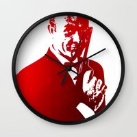 james bond Wall Clocks featuring James Bond - Red or Dead by D77 The DigArtisT