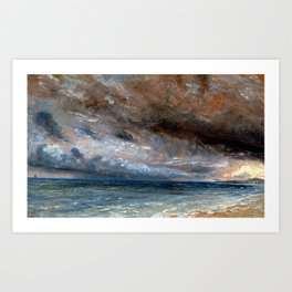 "John Constable ""Stormy Sea, Brighton"" Art Print"
