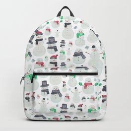 Watercolour snowmen! Backpack