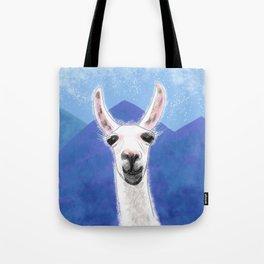 Llama Yama Smiling Tote Bag