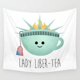 Lady Liber-tea Wall Tapestry