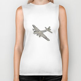 Boeing B-17 Flying Fortress airplane Biker Tank