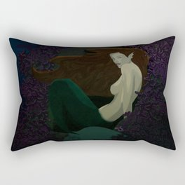 Mermaid in Purple Reef Rectangular Pillow