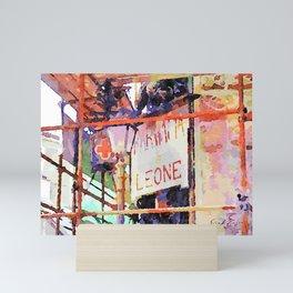 Catanzaro: pharmacy sign with lamp post Mini Art Print