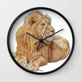Relaxing Lion Wall Clock