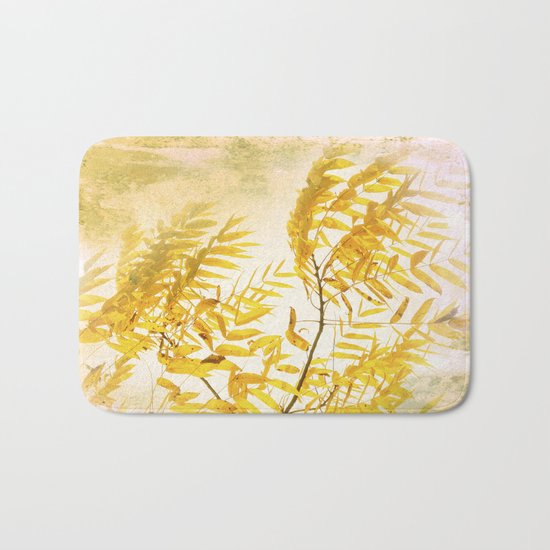 Yellow Branch Bath Mat