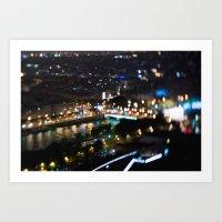 Paris by Night - TiltShift Art Print