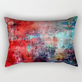 Modern Contemporary Red Abstract IntoDarkness Design Rectangular Pillow
