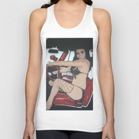 pin up Tank Tops featuring Pin Up by Classic Mixup Art