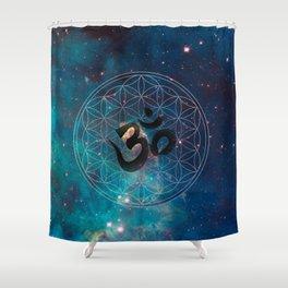 Om & Flower of Life Shower Curtain