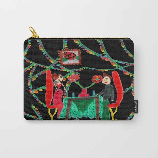 Christmas Dinner   Kids Painting Carry-All Pouch