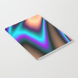 Abstract Fractal Colorways 03 Southwestern Notebook
