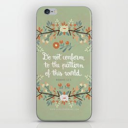 Romans 12:2 Do Not Conform iPhone Skin