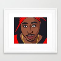 tupac Framed Art Prints featuring Tupac by Michael Walchalk