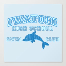 Iwatobi - Dolphin Canvas Print