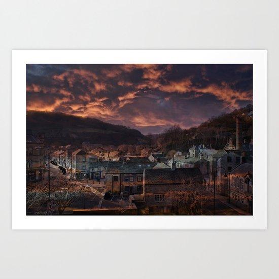 Doom Looms Around The Village Art Print
