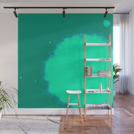 Splat on Teal - by Friztin Wall Mural