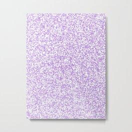 Tiny Spots - White and Light Violet Metal Print