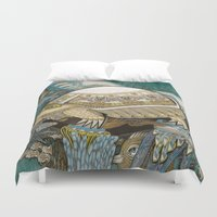 turtle Duvet Covers featuring Turtle by Yuliya