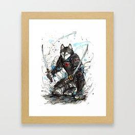Year of the Dog...Samurai! Framed Art Print
