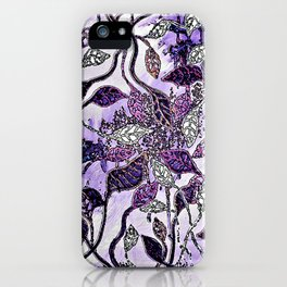 Interlaced Leaves iPhone Case