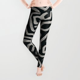 Black & Cream Study 1 Leggings