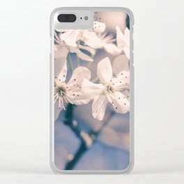 Pear Blossoms 4 Clear iPhone Case