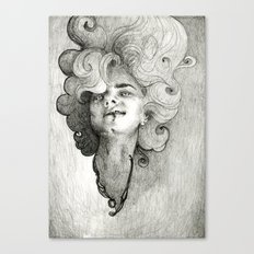 self portrait as a succubus Canvas Print