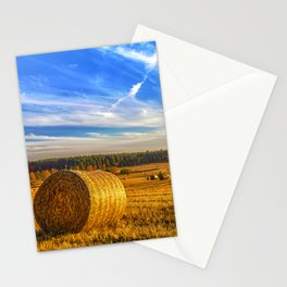 Hay Bales in Autumn Sun Stationery Cards