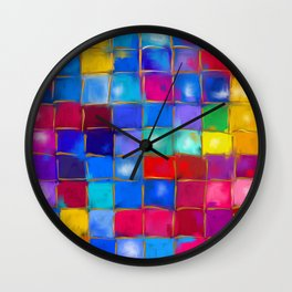 MoSaiC ART ' ALL THe PReTTY CoLouRS ' By SHiRLeY MacARTHuR Wall Clock