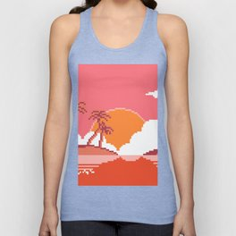 Sunset  on  Coco  Island Unisex Tank Top