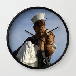 Kissing Sailor And Nurse Portrait Wall Clock