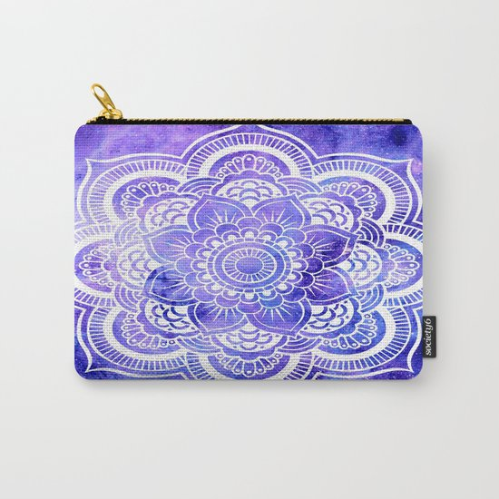 Mandala Violet Blue Galaxy Space Carry-All Pouch