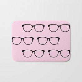Hipster Eyeglasses Bath Mat