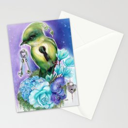 You Hold the Key  - Love Birds Collection - Sheena Pike Stationery Cards