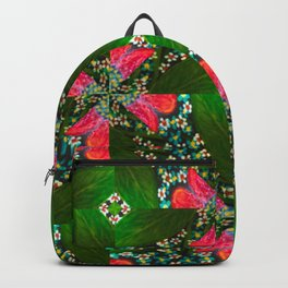 Abstract floral geometric design Backpack