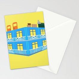 blue house Stationery Cards