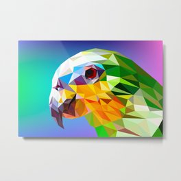 Triangular Abstract Parrot 2 Metal Print