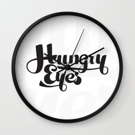 Hungry Hungry Typo Wall Clock