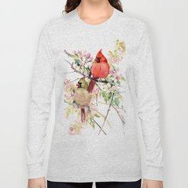 Cardinal Birds and Spring Long Sleeve T-shirt