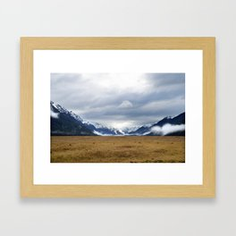 The Home of the Long White Cloud on the Road to Milford Sound Framed Art Print